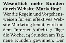 Wesentlich mehr Kunden durch Website-Marketing!